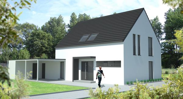 Vos planen bauen gmbh for Modernes einfamilienhaus mit garage
